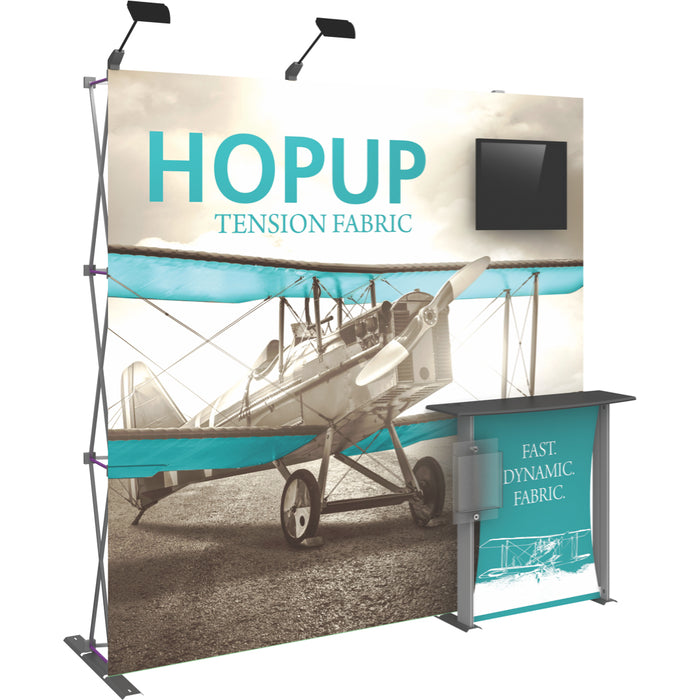 8 Ft. (3 x 3 Quad) Straight HopUp Trade Show Display Dimension Kit 02