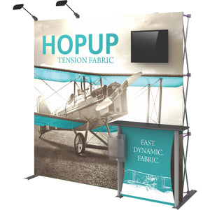 HopUp Straight Trade Show Display Dimension Kit 02 without End Caps - Right Side View