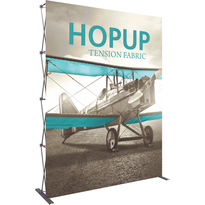 8 Ft. (3 x 4 Quad) Straight HopUp Trade Show Display Without End Cap [Graphic Only]
