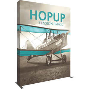Straight HopUp Trade Show Display With End Cap - Left Side View