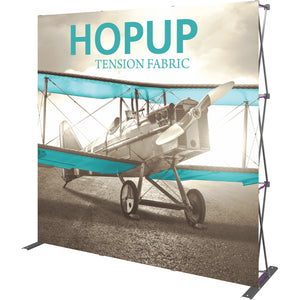 Straight HopUp Trade Show Display Without End Caps - Right Side View