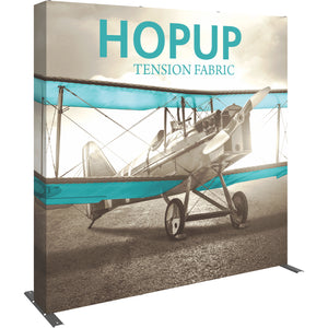 Straight HopUp Trade Show Display With End Caps - Left Side View