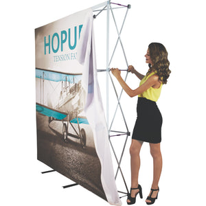HopUp Tension Fabric Display Setup Step 04