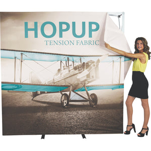HopUp Tension Fabric Display Setup Step 06