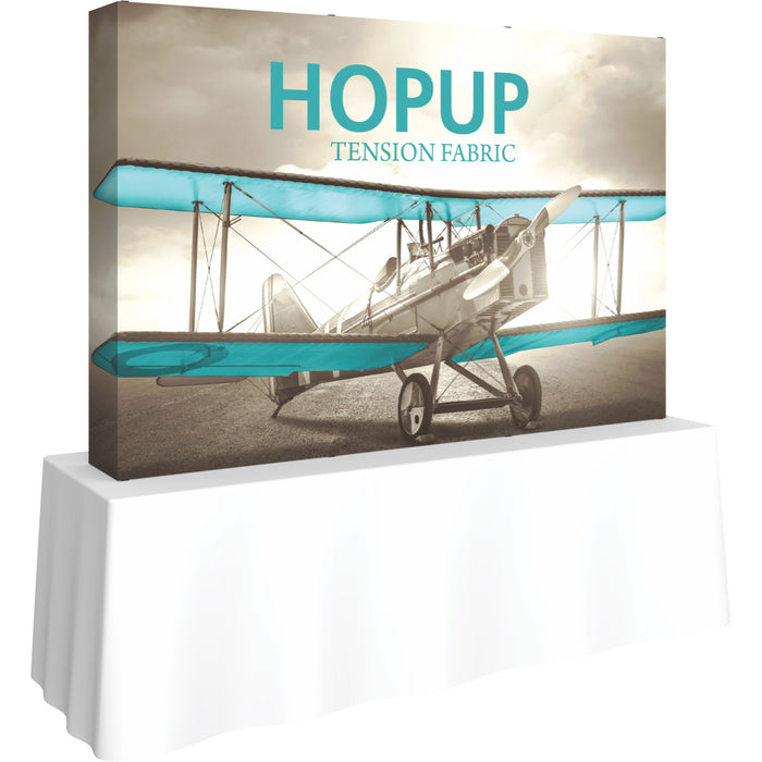 8 Ft. (3 x 2 Quad) Straight HopUp Table Top Display With End Caps