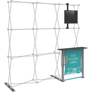Hopup Trade Show Display Dimension Accessory Kit 02 - Left Side View