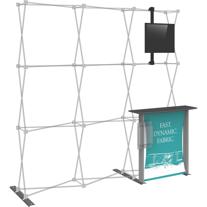 8 Ft. (3 x 3 Quad) HopUp Trade Show Display Dimension Accessory Kit 02