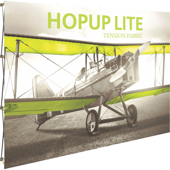 10 Ft. (4 x 3 Quad) Straight HopUp Lite Trade Show Display Without End Cap