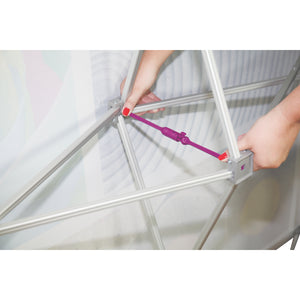 Hopup Tension Fabric Display Locking Arm
