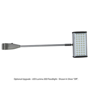 "Lumina 200 LED Display Light - Shown in Silver ""Off"""
