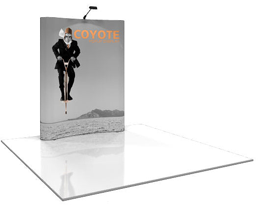 6 Ft. (2 x 3 Quad) Curved Coyote Pop Up Display With Full Graphics