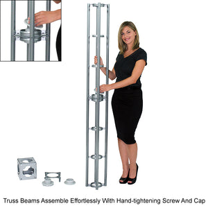 Cassiopeia Orbital Express 20' x 20' Truss Trade Show Display Booth - Product Assembly 3