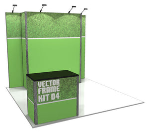 Vector Frame 4 10' x 10' Trade Show Display Kit