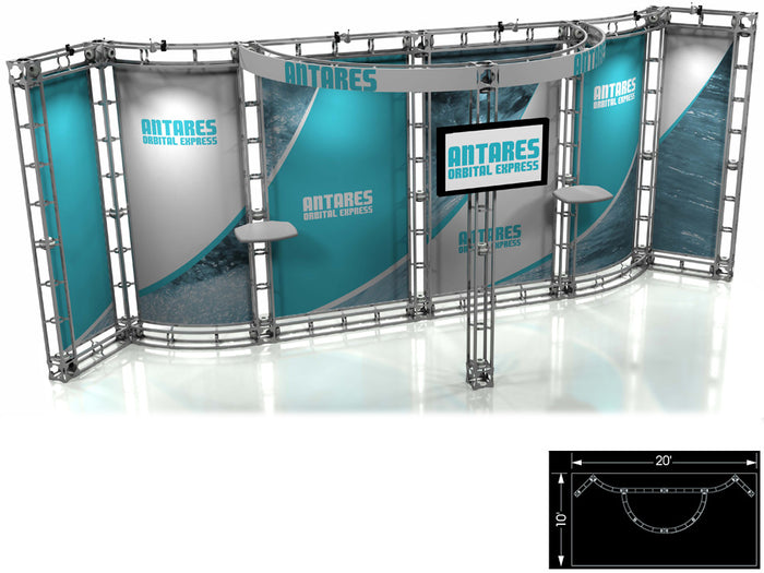 Antares Orbital Express 10' x 20' Truss Trade Show Display Booth