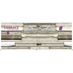 20 Ft. (8 x 3 Quad) Embrace Full Height Trade Show Inline Double Sided Display with End Caps