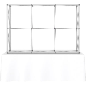 7 1-2 Ft. (3 x 2 Quad) Embrace Tabletop Display With End Caps - Frame Only