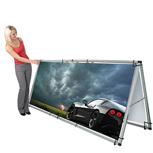 Monsoon Single/Double-Sided Outdoor Banner Stand