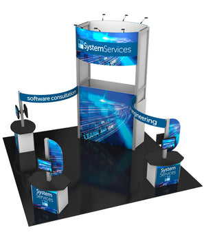 20' x 20' Hybrid Pro Modular Island Exhibit Kit 17 - Product View 4