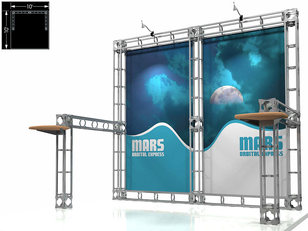 Mars Express 10' x 10' Truss Trade Show Display Booth