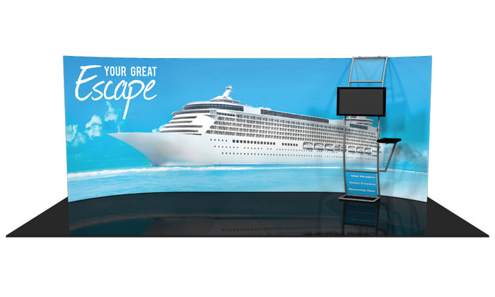 Formulate WH4 10' x 20' Horizontal Curved Trade Show Display