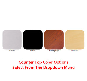 Vector Frame Trade Show Display Counter - Counter Top Color Options