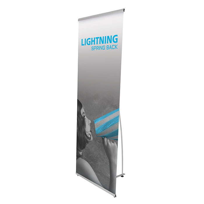 Lightning Economy Banner Stand - Up Close