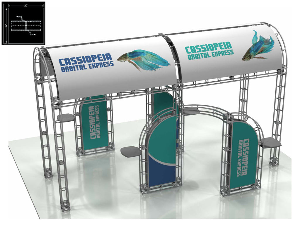 Cassiopeia Express 20' x 20' Truss Trade Show Display Booth