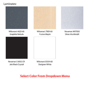 Slatwall Panel Display Kiosk - Color Swatch