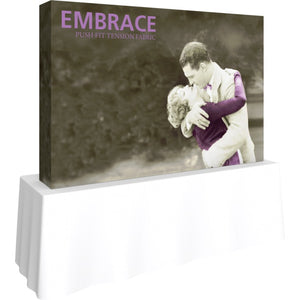 7 1/2 Ft. (3 x 2 Quad) Embrace Tabletop Display With End Caps - Left Side