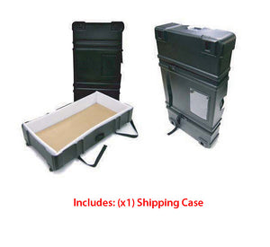 Exhibitline NLC1 Trade Show Locking Cabinet Counter - Shipping Case