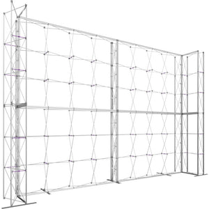 21 x 15 Ft. (4 x 3 Quad) Embrace Stackable Single Sided Trade Show Display With End Caps - Frame Left View
