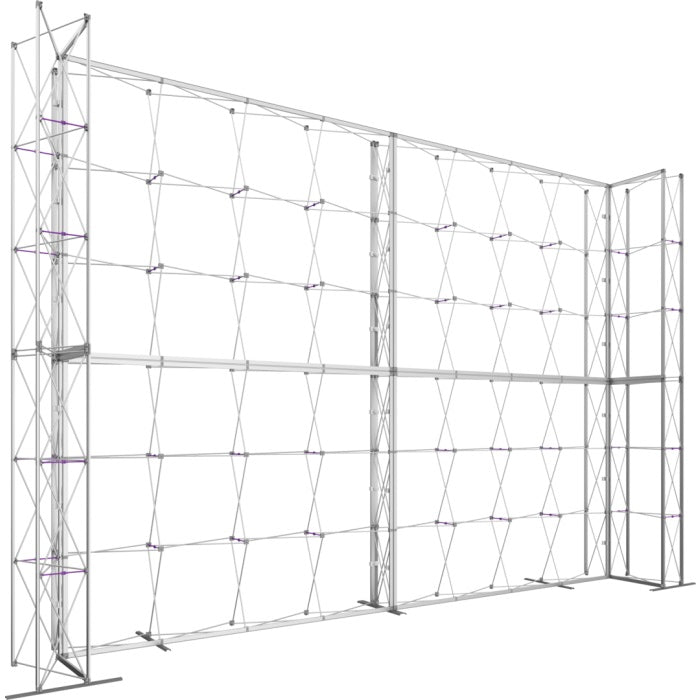21 x 15 Ft. (4 x 3 Quad) Embrace Stackable Double Sided Trade Show Display Without End Caps - Frame Left View
