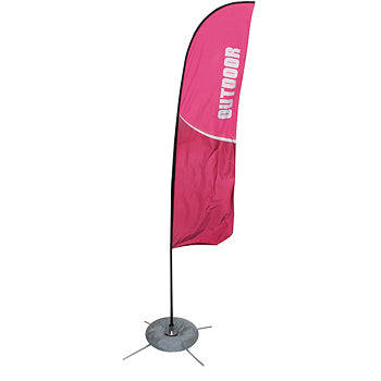 Zoom Straight Indoor/Outdoor Banner Stand With Full Graphics - Double Sided