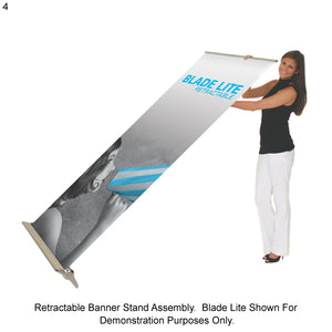 Advance Retractable Banner Stand with Interchangeable Graphic Print - Double Sided