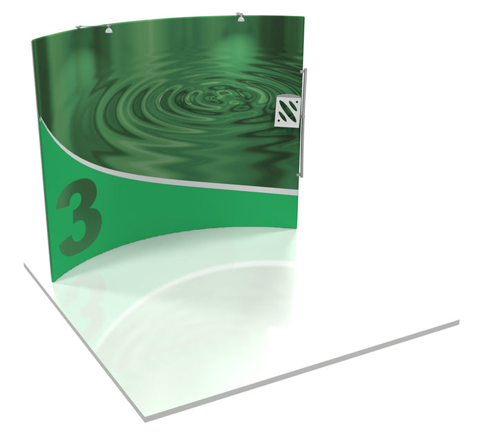 Formulate HC3 10' x 10' Horizontally Curved Trade Show Display