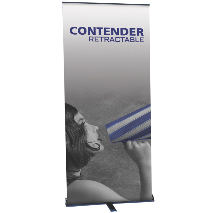 Contender Mega Banner Stand - Up Close