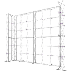 17 x 15 Ft. (3 x 3 Quad) Embrace Stackable Double Sided Trade Show Display Without End Caps - Frame Right View