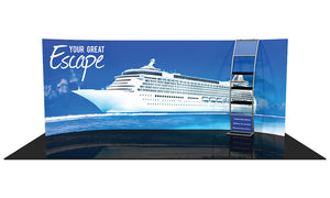 Formulate WH5 10' x 20' Horizontal Curved Trade Show Display
