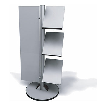 Exhibitline LIT1.V2.R Three Shelf Literature Stand