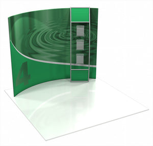 Formulate HC4 10' x 10' Horizontally Curved Trade Show Display