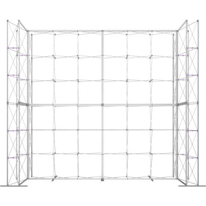 17 x 15 Ft. (3 x 3 Quad) Embrace Stackable Single Sided Trade Show Display Without End Caps - Frame Only View