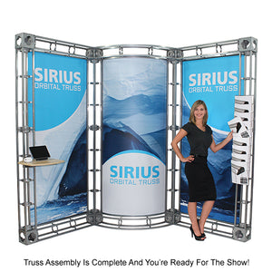 Corvus Orbital Express 20' x 20' Truss Trade Show Display Booth - Product Assembly 7