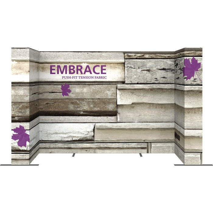 14 Ft. Embrace U-shape Full Height Double Sided Front Graphic Trade Show Display With End Caps