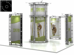 Tucana Express 20' x 20' Truss Trade Show Display Booth