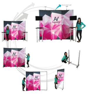 Hybrid Pro Modular Trade Show Exhibit Kit 16  - Product View 6
