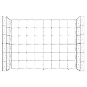 21 x 15 Ft. (4 x 3 Quad) Embrace Stackable Single Sided Trade Show Display With End Caps - Frame View