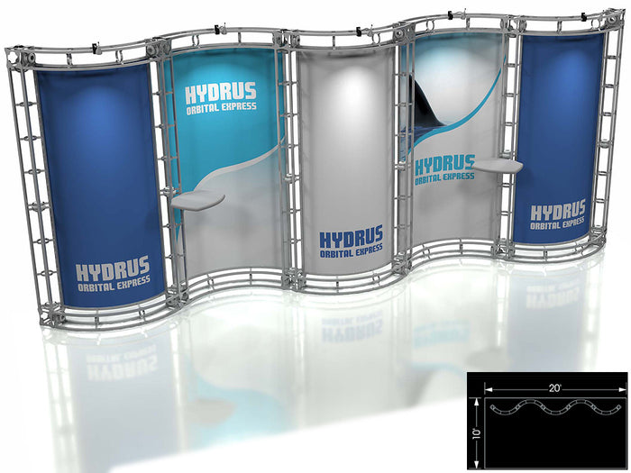 Hydrus Orbital Express 10' x 20' Truss Trade Show Display Booth