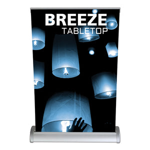 Breeze Table Top Banner Stand - Up Close