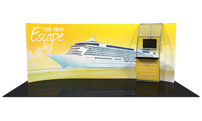 Formulate WH2 10' x 20' Horizontal Curved Trade Show Display