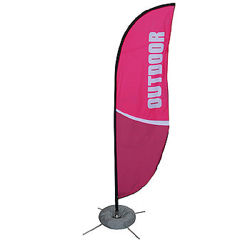 Zoom Feather Indoor/Outdoor Banner Stand With Full Graphics - Single Sided